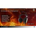 Bättre spelupplevelse med vibrerande gaming-stereoheadset!