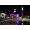 Stockton lights up for Make May Purple for Stroke
