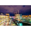 Adventsljusstaken lyser över Norrköping med grön el