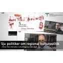 Sju politiker om regional kulturpolitik - filmer från VGR lyfter kulturfrågorna inför valet