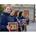 Manifestation utanför riksdagen 2016-09-27