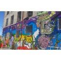 Muralmålning på Sockerbrukets vägg