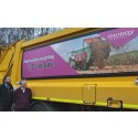 Vehicle panels reinforce message on food waste recycling
