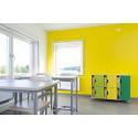 Lekolars förvaringssystem Fixa inspirerar till färgglada pedagogiska miljöer