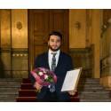 Abtin Janinejad, grundaren av Entowork, korad till Årets Unga Entreprenör Syd 2017