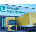 Biogaslastbilar rullar i Svenska Retursystems flöden