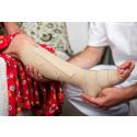 Med Presscises unika teknik får kompressionsbandage samma tryck oavsett vem som lindar bandaget.  Detta ger en mer effektiv behandling.