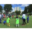 Premiär för fotbollsskola med IFK i Bergsjön