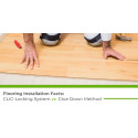 Flooring Installation Facts: CLIC-Locking System vs. Glue Down Method