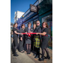 A vision in tartan – Celtic-clad special guest officially opens new Vision Express in Bude