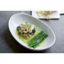Recept: Spättarullader med pepparrot, haricot verts och skirat smör.