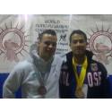 Sterk prestasjon av Kim Gibson i World Kung Fu i Italia