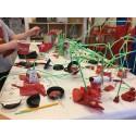Förskolebarn bygger Corona-labb