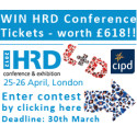 Free tickets to give away for CIPD's HRD Conference in London, April 25-26th