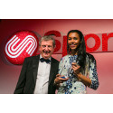 Heptathlete Morgan Lake wins SportsAid's One-to-Watch Award at the charity's SportsBall in London