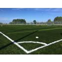 Avvattningsrännor från GPA användes till ny fotbollsplan med konstgräs