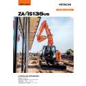 Broschyr Hitachi ZX135US-6 bandgrävare