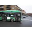 Skånetrafiken buss med VoiP i trafik