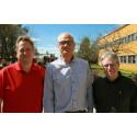 Kåre Synnes, professor i distribuerade datorsystem, Lars Stehn, professor i träbyggnad och Thomas Olofsson, professor i byggproduktion vid Luleå tekniska universitet