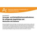 Medizinische Rehabilitation für Menschen mit Demenz und ihre Angehörigen – Deutsche Alzheimer Gesellschaft informiert über die Voraussetzungen