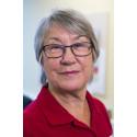 Karin Bjelksjö, fd företagsköterska numera pensionär och Röda kors-volontär på Danderyds sjukhus