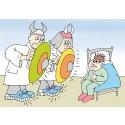 Psykiatrin använder sköldar mot patienter.