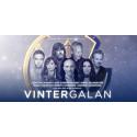 Vintergalan 2018 = Lena Philipsson, Uno Svenningsson, Måns Zelmerlöw, Molly Hammar, Ebbot Lundberg, Anders Glenmark och Mark Levengood!