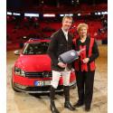 Volkswagen gratulerar fem ryttare till bilvinster