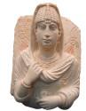 Begravningsbyst i kalksten, Palmyra, 3:e århundradet AD