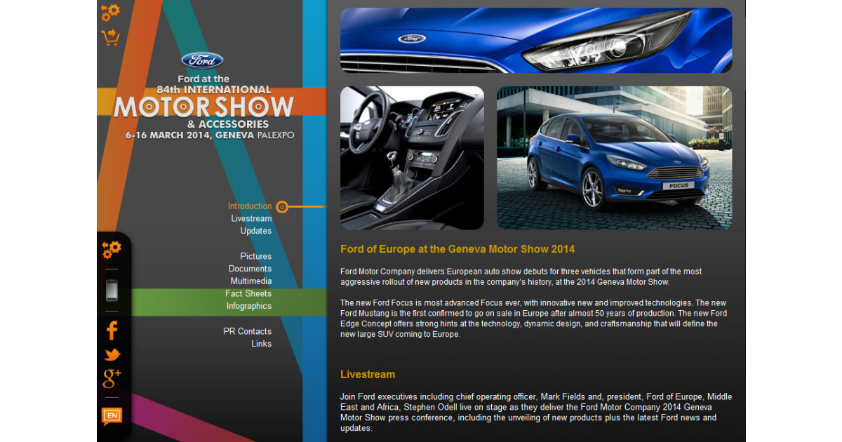 Ny avanceret ford focus en sports klassiker i nye kl der Ford motor company press release