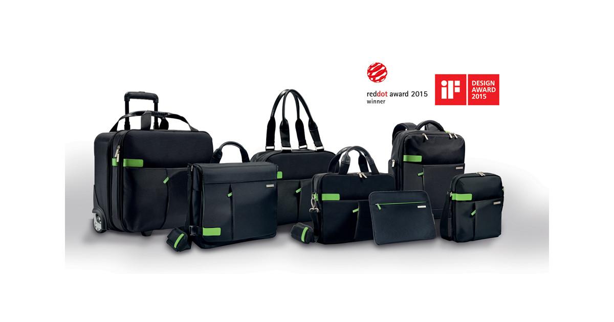 Handbagage Två Väskor : Leitz complete smart traveller v?skor bel?nade med tv?