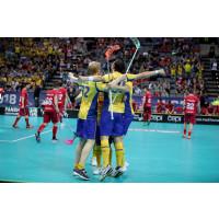 Sverige vann straffdramat i semifinalen mot Schweiz i VM i Prag