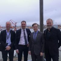 Consats vd Martin Wahlgren träffar USA:s nya Ambassadör Ken Howery i Göteborg