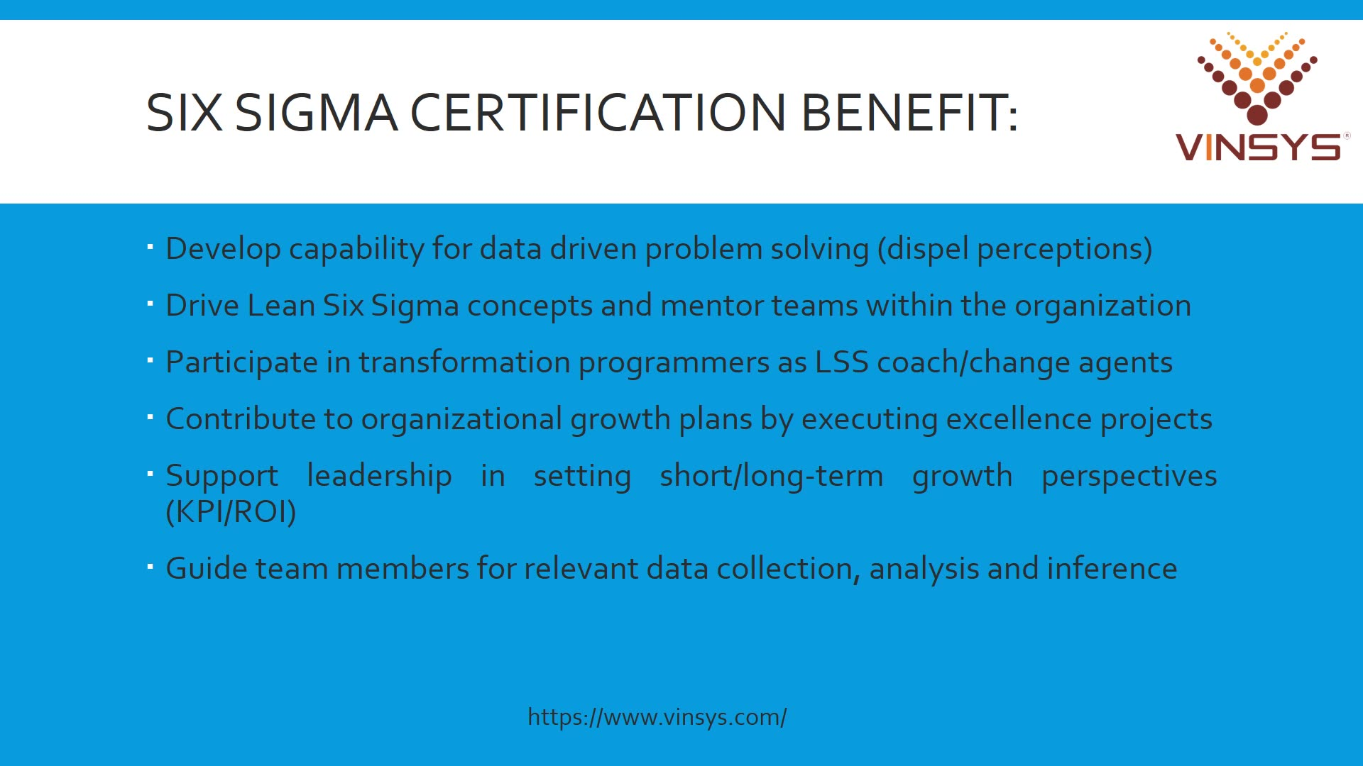 Six Sigma Certification Six Sigma Course In Delhi Vinsys Vinsys