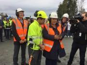 Statsministeren sprengte i gang meieribygging i Bergen