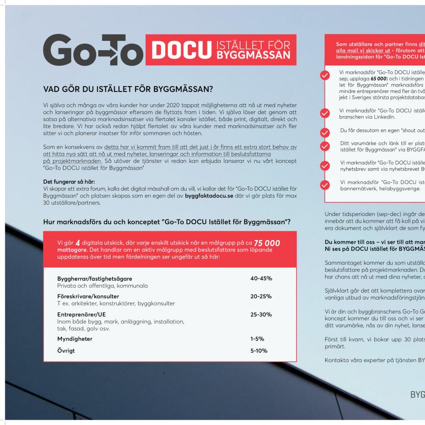 Go-To DOCU ISTÄLLET FÖR BYGGMÄSSAN
