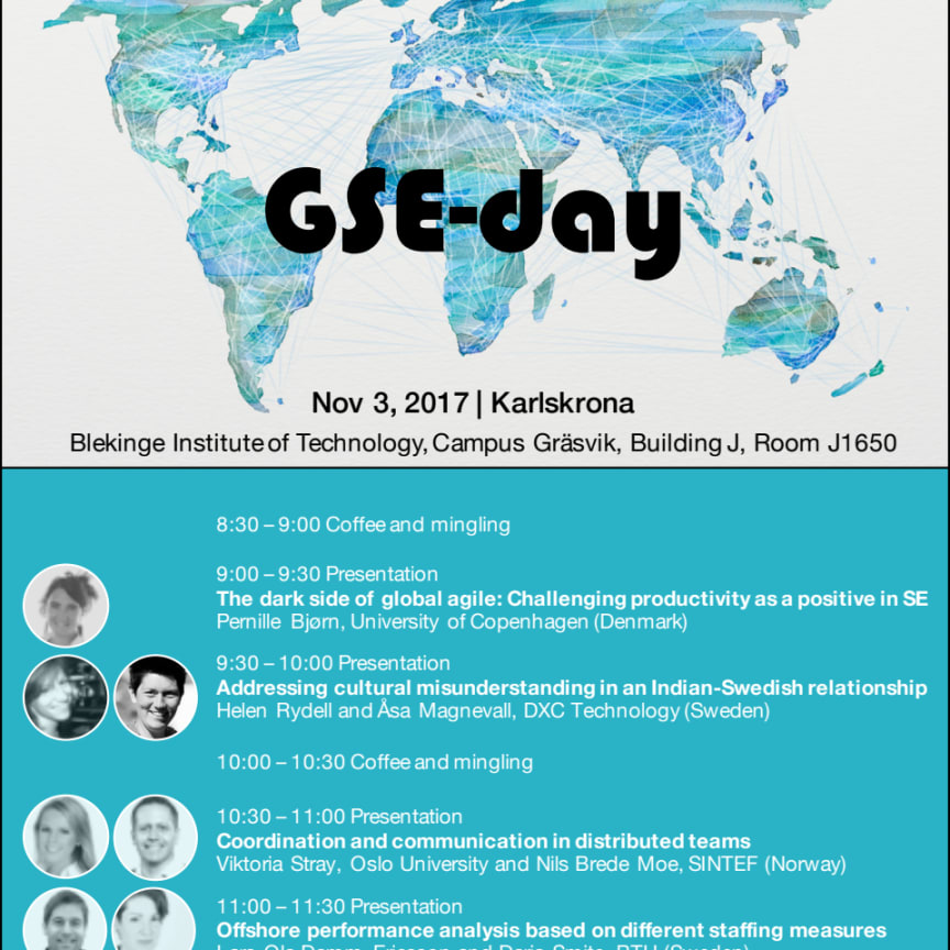 Program för Global Softare Engineering day
