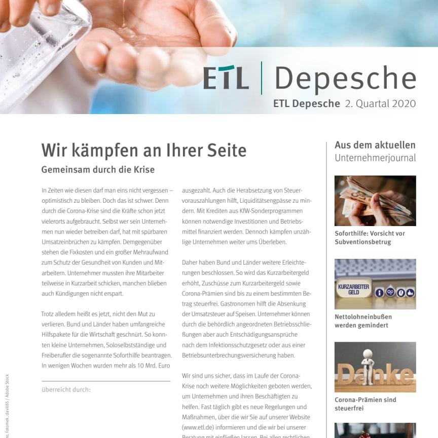 ETL-Depesche 2. Quartal 2020