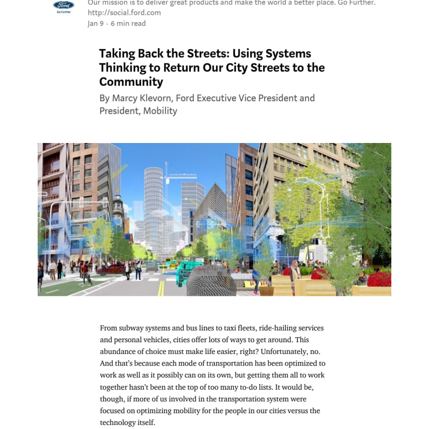 CES 2018: Ford om intelligente byer