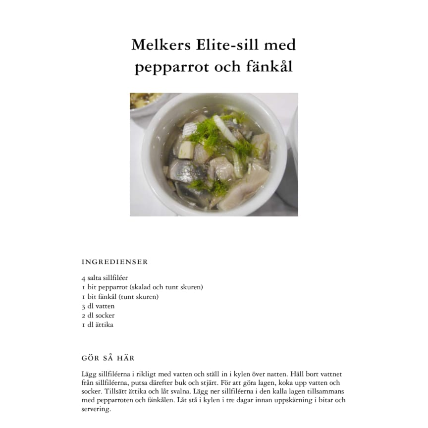 Melkers Elite-sill med pepparrot och fänkål