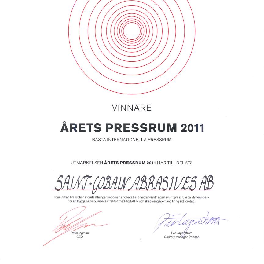 Diplom Beste Internasjonale Presserom