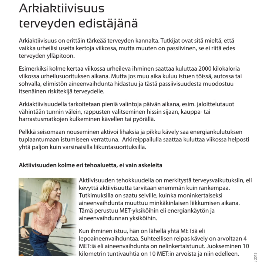 Arkiaktiivisuus terveyden edistäjänä