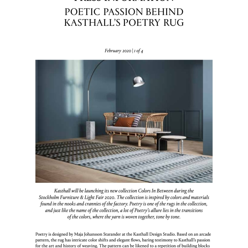 POETIC PASSION BEHIND KASTHALL'S POETRY RUG