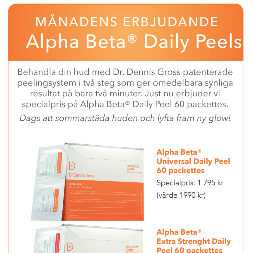 Dr Dennis Gross A4 Alpha Beta Peels 60 pack