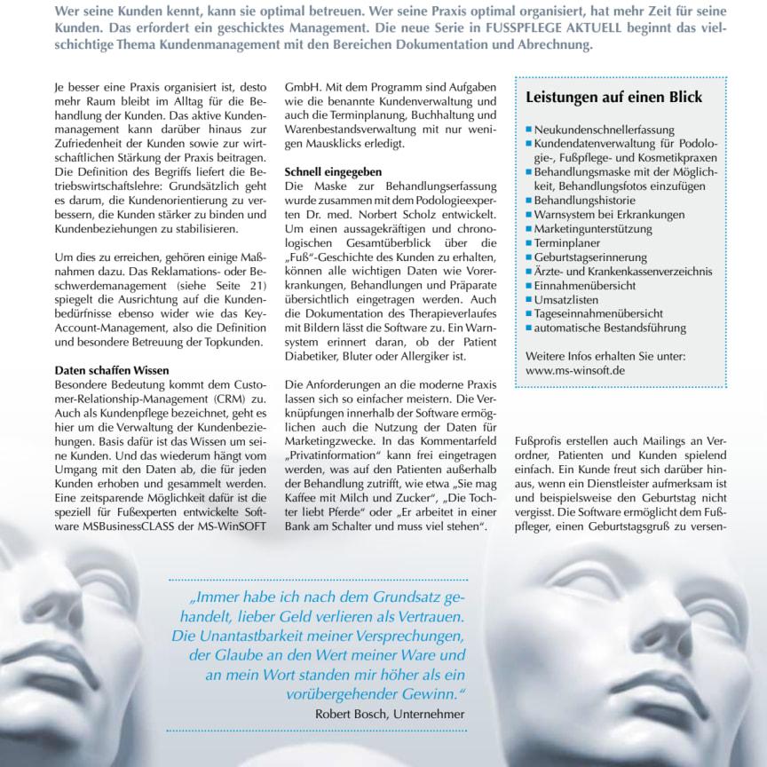 Kundenmanagement in der Praxis: Dokumentation und Abrechnung - Kennen Sie Ihre Kunden?