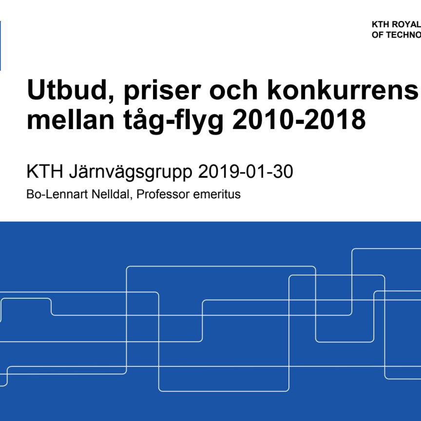 Konkurrens mellan tåg-flyg 2010-2018