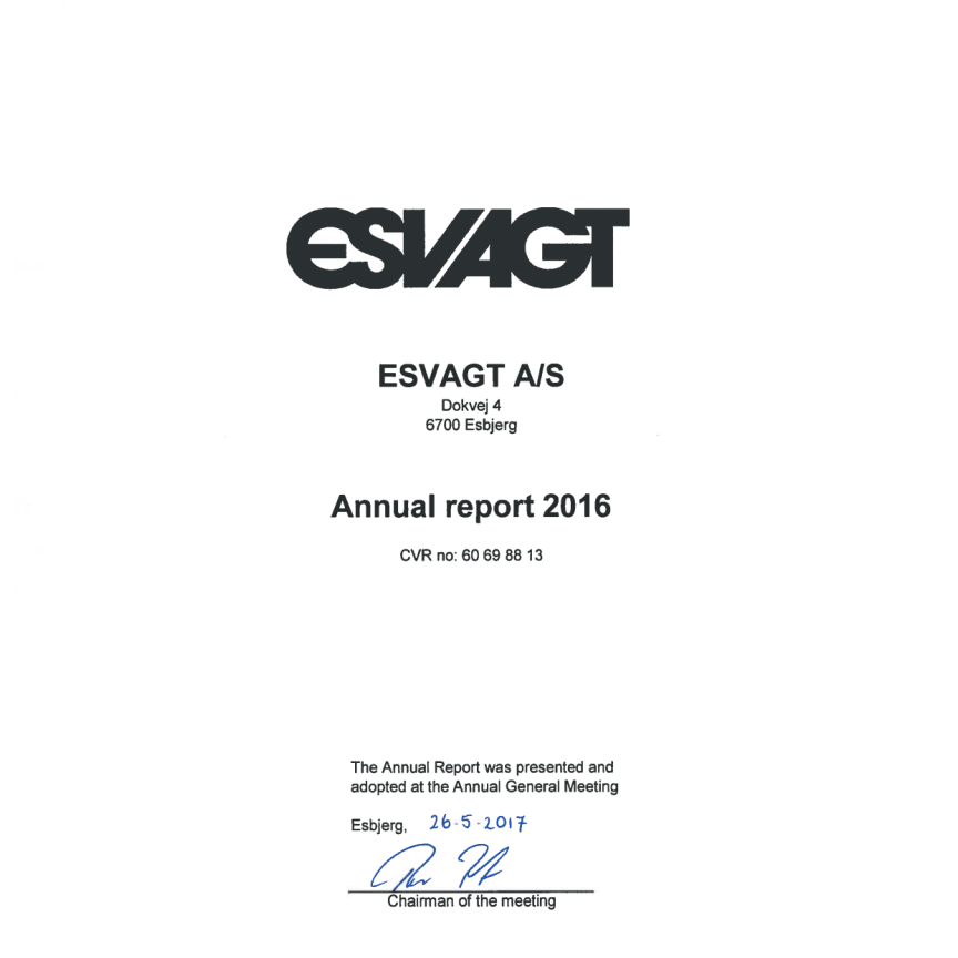 ESVAGT Annual Report 2016