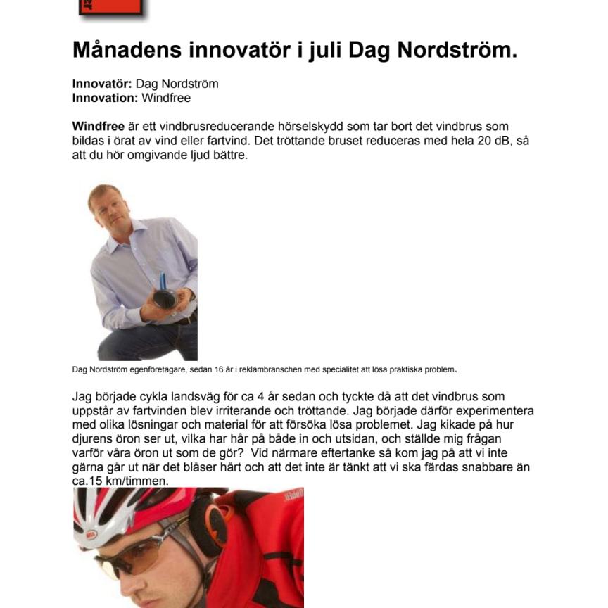 Månadens innovatör hos smartasaker.se i juli 2013 Dag Nordström