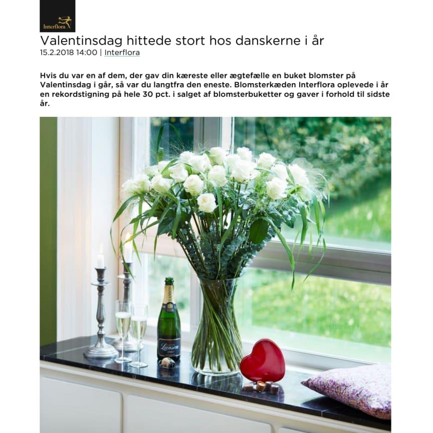 Valentinsdag hittede stort hos danskerne i år