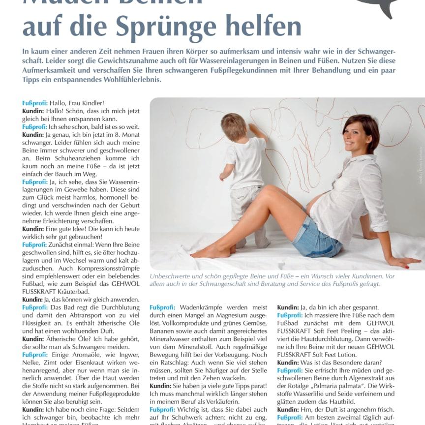 Das Beratungsgespräch: Müden Beinen auf die Sprünge helfen